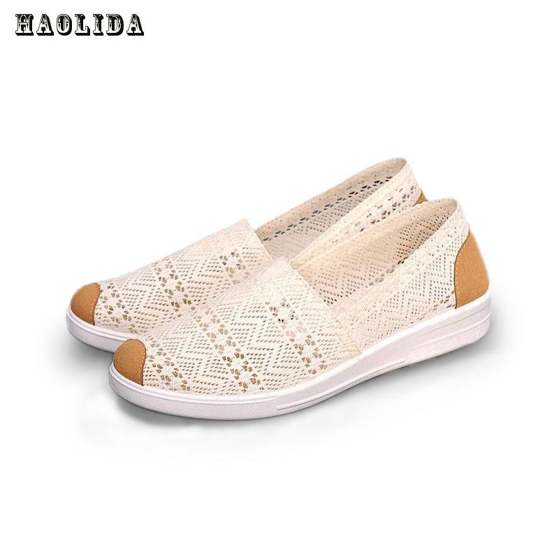 2017 Summer Flat Shoes Woman Comortable Casual Flats Outdoor Women's Shoes Leisure Hollow Breathable Women Shoes Size 35-41 breathable women hemp summer flat shoes eu 35 40 new arrival fashion outdoor style light