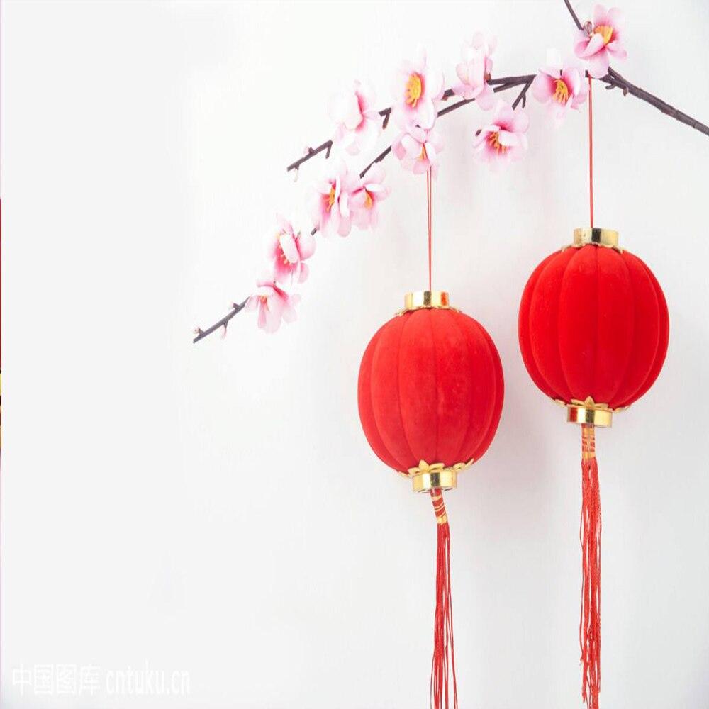 Paquet de 8 de 12  Rouge Chinois Lanterne