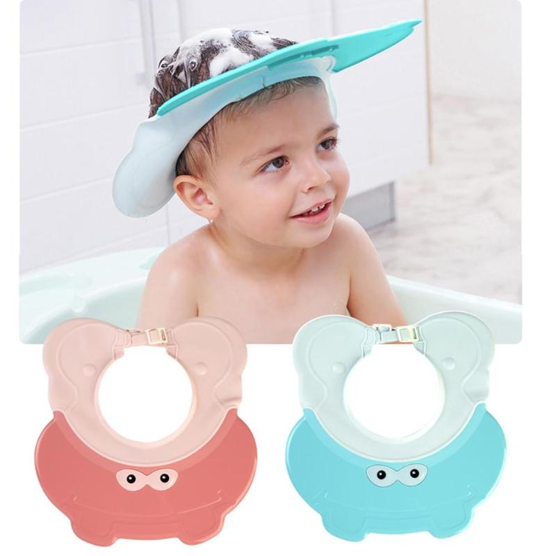 Soft Elastic Shampoo Cap Baby Kid Child Wash Hair Bath Shower Protect Shield Hat