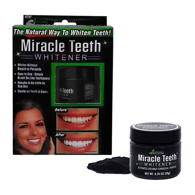Black Activated Carbon Teeth Cleaning Powder Miracle Teeth Natural Activity Clean Tooth Powder White Bamboo Charcoal Dentifrice