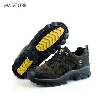 MASCUBE גברים הרי טיפוס נעלי טרקים עמיד למים לנשימה סניקרס זכר נעלי הליכה עור אמיתי גברים של נעליים