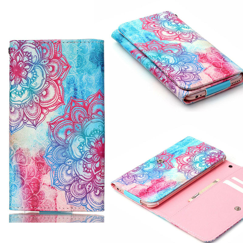 """5.5""""inch Universal Leather Wallet Pouch Case Cover For LG G2 G3 G4 G3 mini G4 Mini D686 D690 F350 Nexus 5 With Card Slots"""
