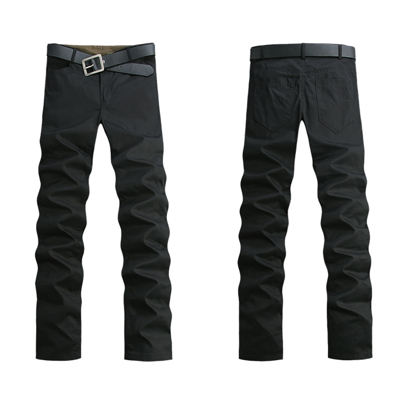 SYB 2016 NEW New high quality Men casual pants Straight cotton Trousers not included belt