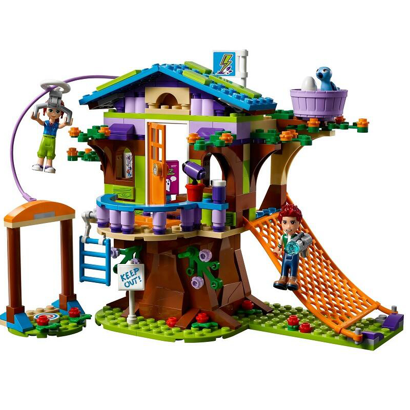 DIY The Mias Tree House Girls Friends Series Building Blocks 41335 Educational playmobil Toys For girl Children birthday gifts