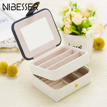 NIBESSER Cosmetic Bags Makeup Bag Women Travel Jewelry Box Professional Jewel Casket Necessaries Make Up Organizer storage box