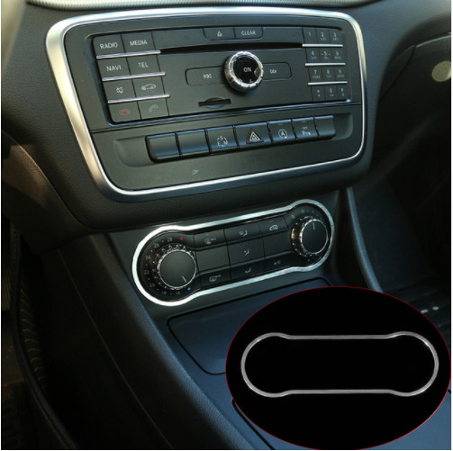 Aluminum Alloy Air Condition Panel Trim For <font><b>Mercedes</b></font> Benz GLA CLA 200 220 <font><b>A180</b></font> B200 Accessory Car Styling image