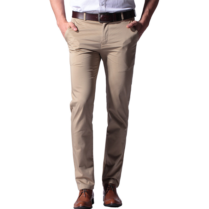 100% cotton straight thin soft business men casual pants