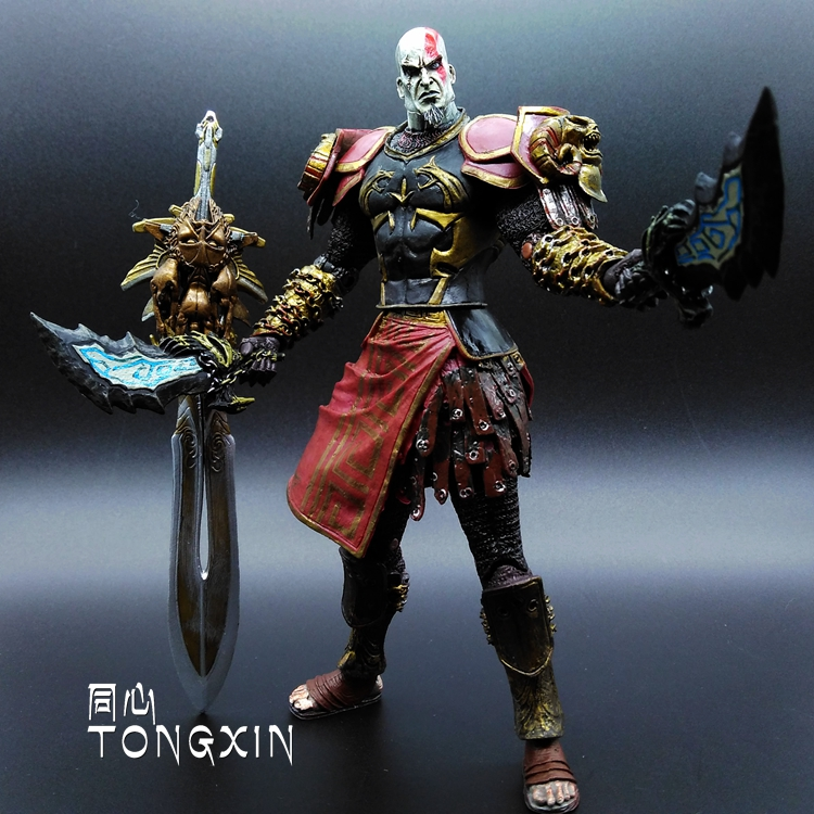 7 Inch Kratos 2 Ares Kratos Flame Blade Action Figure Doll Toys Model Ornaments Gift NECA new hot 17cm avengers thor action figure toys collection christmas gift doll with box j h a c g