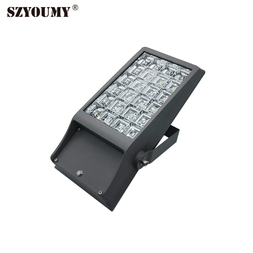 SZYOUMY 8w 12w Solar Powered LED Spotlight Outdoor Garden Decoration Waterproof 65 LED Flood Light 32LEDS 48LEDS