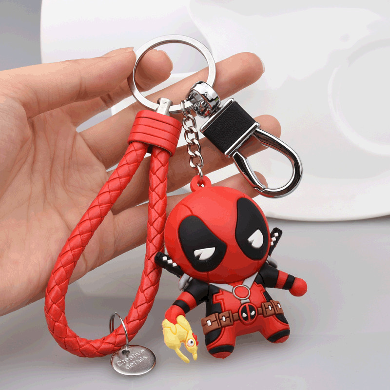 2018 The New Lovely Deadpool Creative Key Chain Car Keychain Korean Version Package Pendant Key Ring For Women Men Jewelry