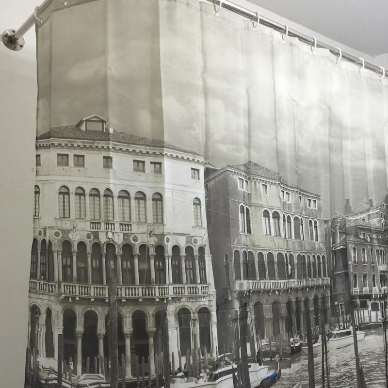 Venedig gemusterten Duschvorhang stilvolle Familie Badezimmer - Haushaltswaren - Foto 5
