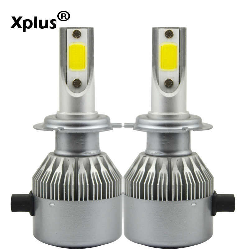 Xplus 72W 2*36W COB LED 12V 24V H1 H3 H4 H7 H11 Car Headlight Kit Front Light Bulb Fog Bulb Headlamp High Light Low Light