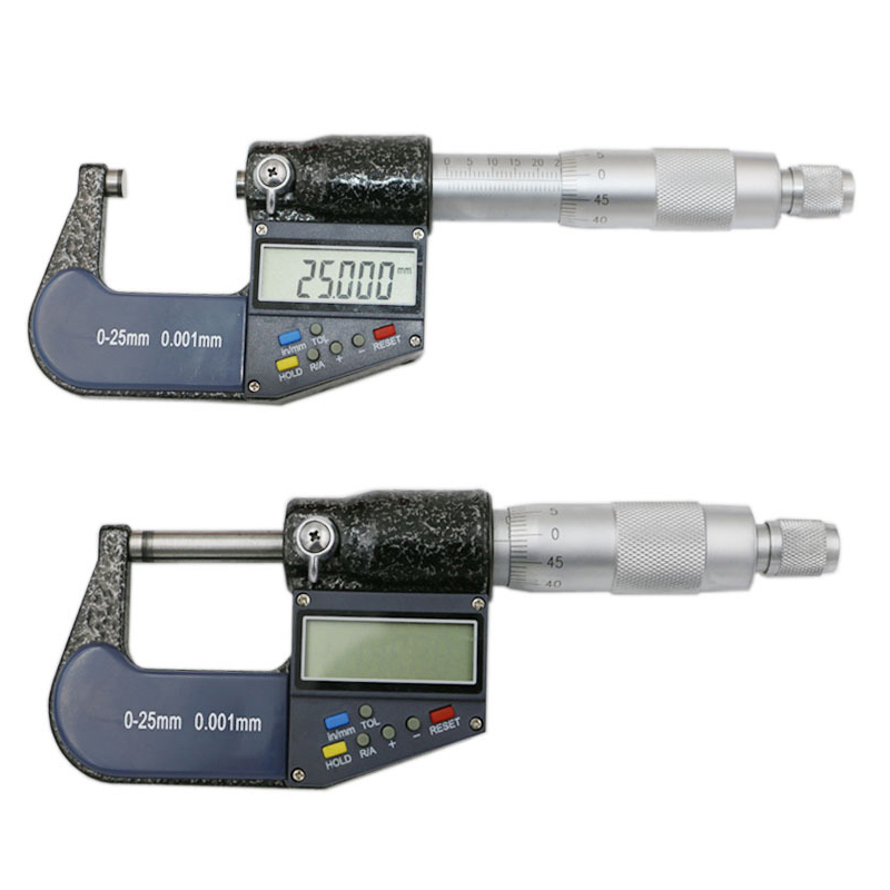 New 25mm/0.001mm Electronic Digital Micrometer Caliper Gauge Tool --M25 best 0 25mm 0 01mm gauge outside metric micrometer tool with metal for mechanist caliper tool brand new hot sale