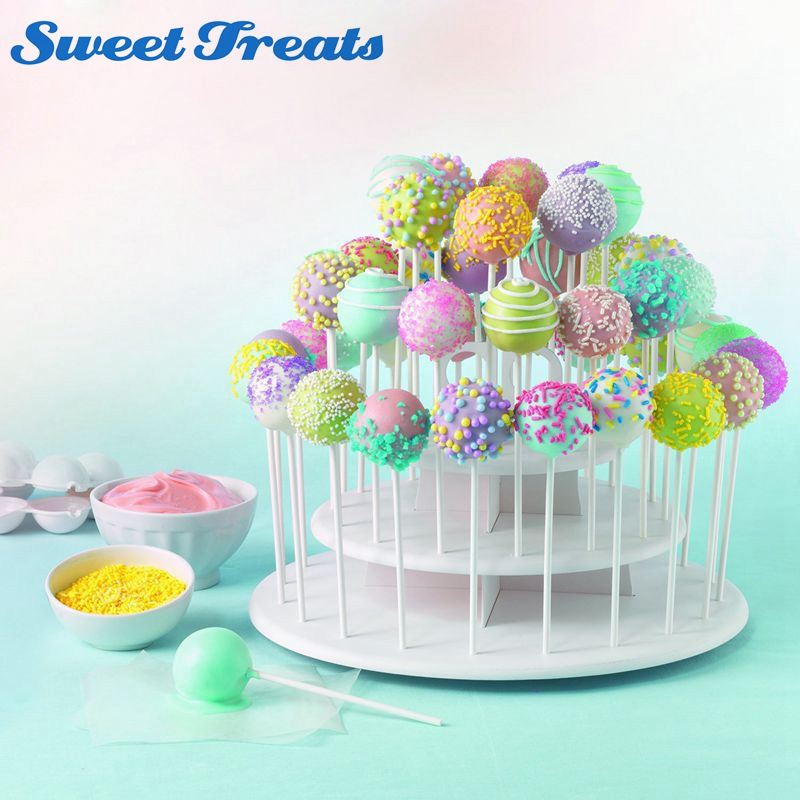 cake pop bakery sweettreats 3 tier white cake pop stand holds 40 2277