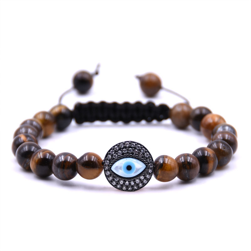 personality fashion Eye model 8mm Natural Stone Bracelet Head Bracelet 5 colors available Bracelets Holiday gifts Jewelry