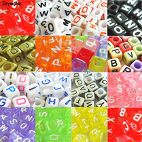 U Pick 18 Colors 1000pcs 6mm Mixed Alphabet Cubic Letter Beads Acrylic Spacer Beads For Loom Band Bracelet