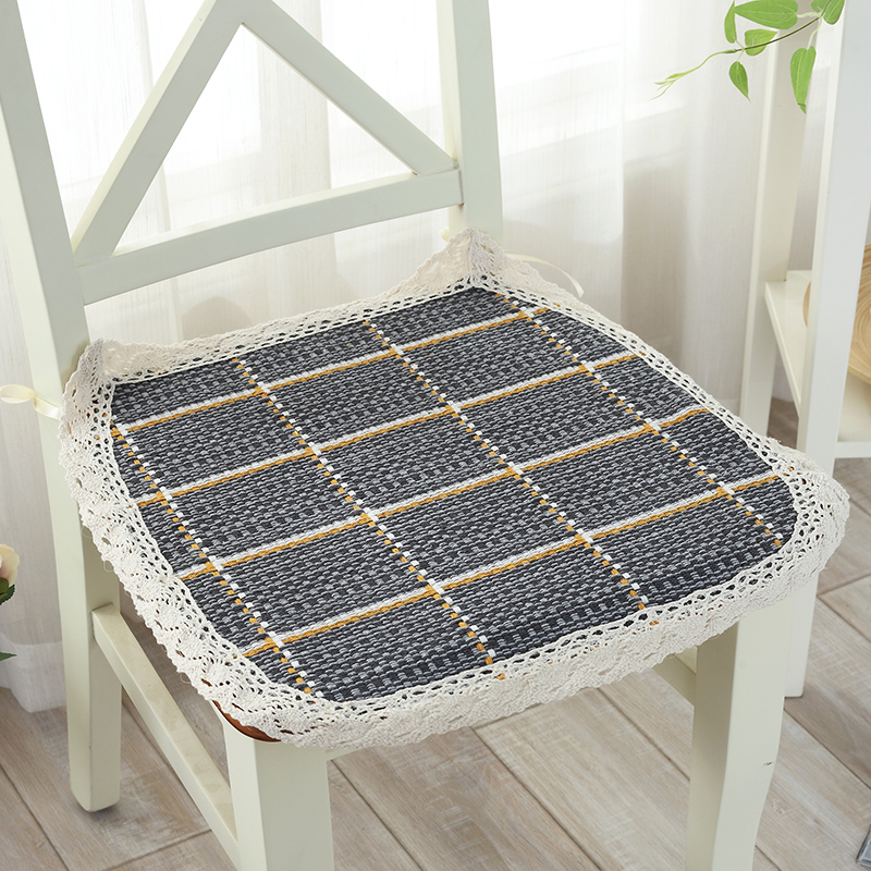 Breathable Thin Dining Chair Cushion With Rope Weave Seat Mat Pad Stoop Floor For Home Decor Almofadas Para Sofa In From