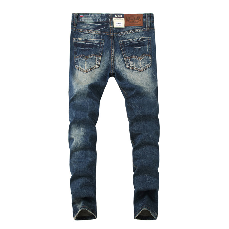 2019 Original Dsel Designer   jeans   men Famous Brand Ripped   jeans   Denim Cotton   Jeans   Men Casual Pants printed   jeans  ,608-A