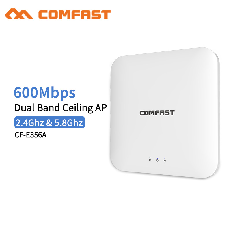 купить Comfast CF-E356A 600M Wireless Router Dual Band Access Point Ceiling AP Wi fi Signal Amplifier Open wrt WI FI Extender Router онлайн