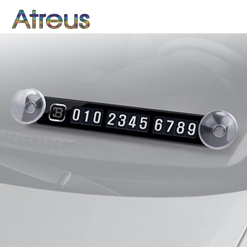 Kartu Parkir Magnetik Nomor Telepon Kartu Piring Stiker Mobil untuk Ford Focus 2 3 Fiesta Mondeo Tuga Toyota Corolla rav4 Aksesoris