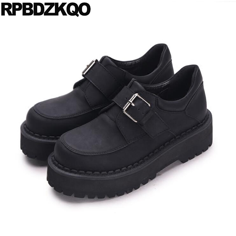 Suede Elevator Round Toe Flats Black Creepers Platform Shoes Slip Resistant Ladies Thick Sole Women Harajuku Beautiful Drop fine zero spring women casual suede genuine leather platform flats tassel wedge slip on ladies creepers shoes red fur winter