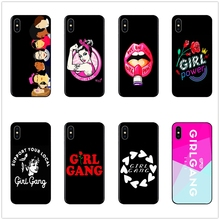 DK Feminist Girl Gang new phone case black soft cover for Samsung s8 s9plus S6 S7Edge S5 for iPhone 6 6s 7 8plus 5 X XS XR XSMax