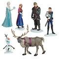 Hot Sale 6pcs/set Anna Elsa Hans Kristoff Sven Olaf PVC Action Figures Toys Classic Toys Free Shipping