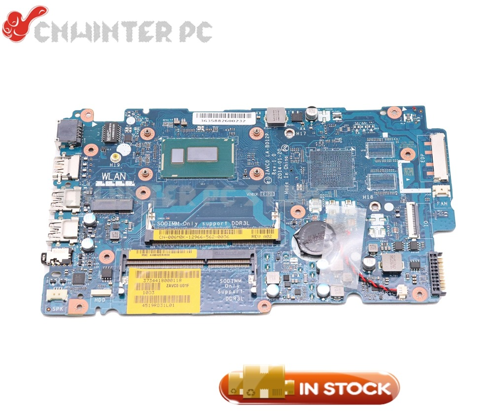 NOKOTION For Dell Inspiron 5447 5442 5542 5547 Laptop Motherboard CN 0FV11Y 0FV11Y FV11Y ZAVC0 LA B012P SR1EB I7 4510U CPU