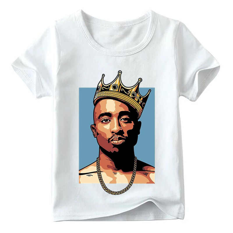 Children 2pac Hip Hop Swag Print T shirt Summer Fashion Tupac Baby Boys/Girls Top Tee shirts Kids Casual Clothes,ooo287