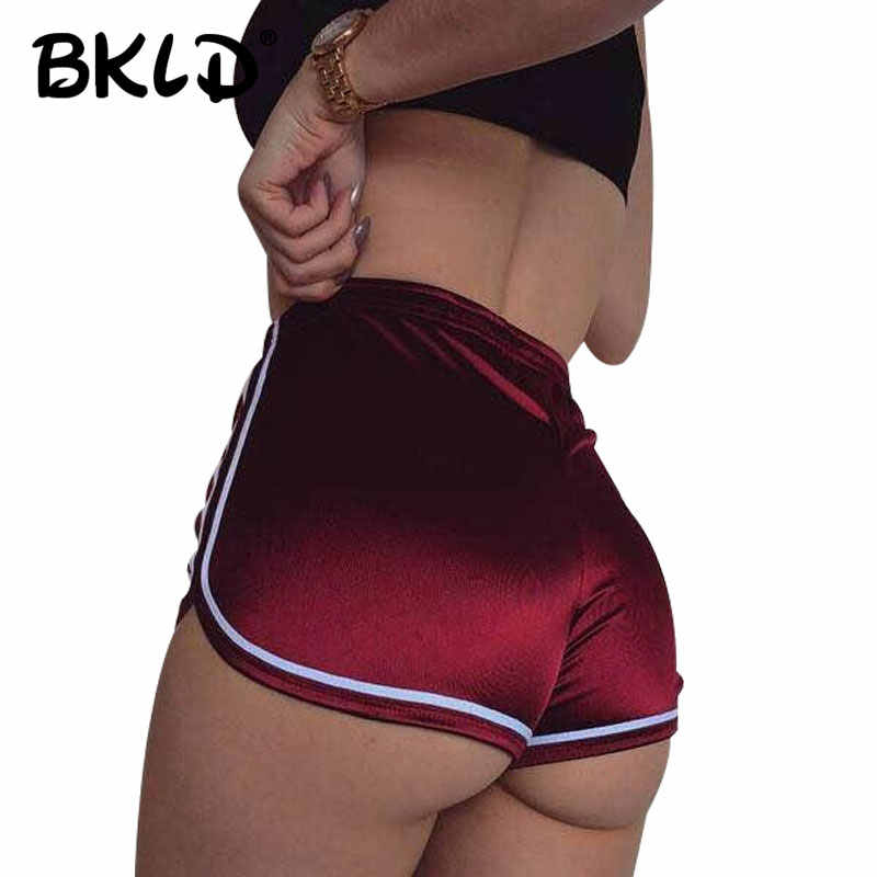 BKLD 2019 Fashion High Waisted Shorts For Women Sexy Summer Beach Style Satin Shorts Female Casual Short Feminino Women Shorts