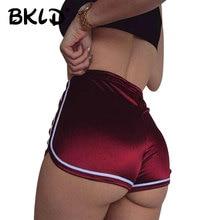 BKLD 2019 Fashion High Waisted Shorts For Women Sexy Summer Beach Style Satin Shorts Female Casual Short Feminino Women Shorts