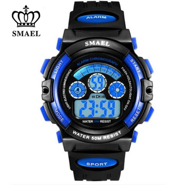 SMAEL Brand Children Watches LED Digital Quartz Watch Boy Girl Student Multifunctional Waterproof Sport Wristwatches For Kids