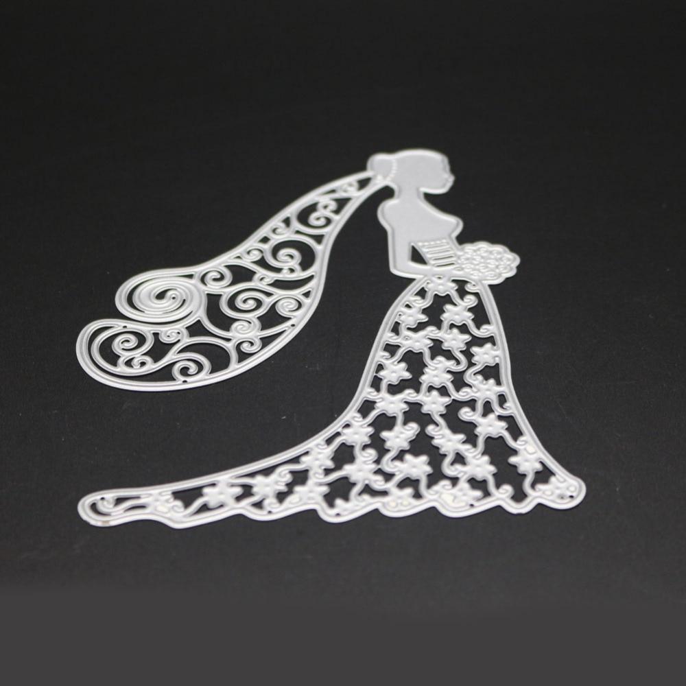 Fine Wedding Dress Die Cut Composition - Wedding Plan Ideas ...