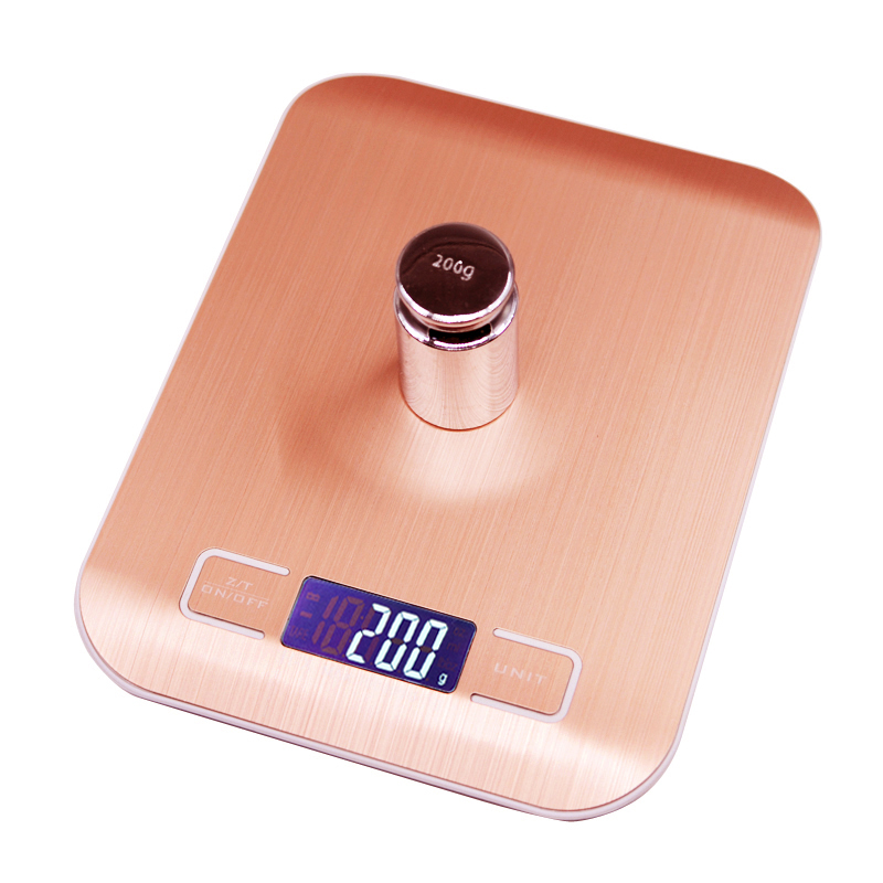 10kg/5000g LCD Kitchen Scales Stainless Steel Electronic Balance Practical Food Diet Kitchen Scale Cooking Measure Tools golden10kg/5000g LCD Kitchen Scales Stainless Steel Electronic Balance Practical Food Diet Kitchen Scale Cooking Measure Tools golden