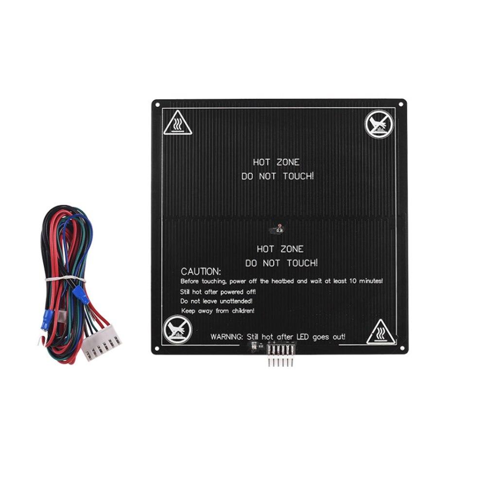 En aluminium Chaude Lit Pour A2 A8 A6 12 V Construire Surface Chaude Lit Plate-Forme 220*220*3 avec fil 3D Imprimante Accessoires pour ANET 3D Imprimante