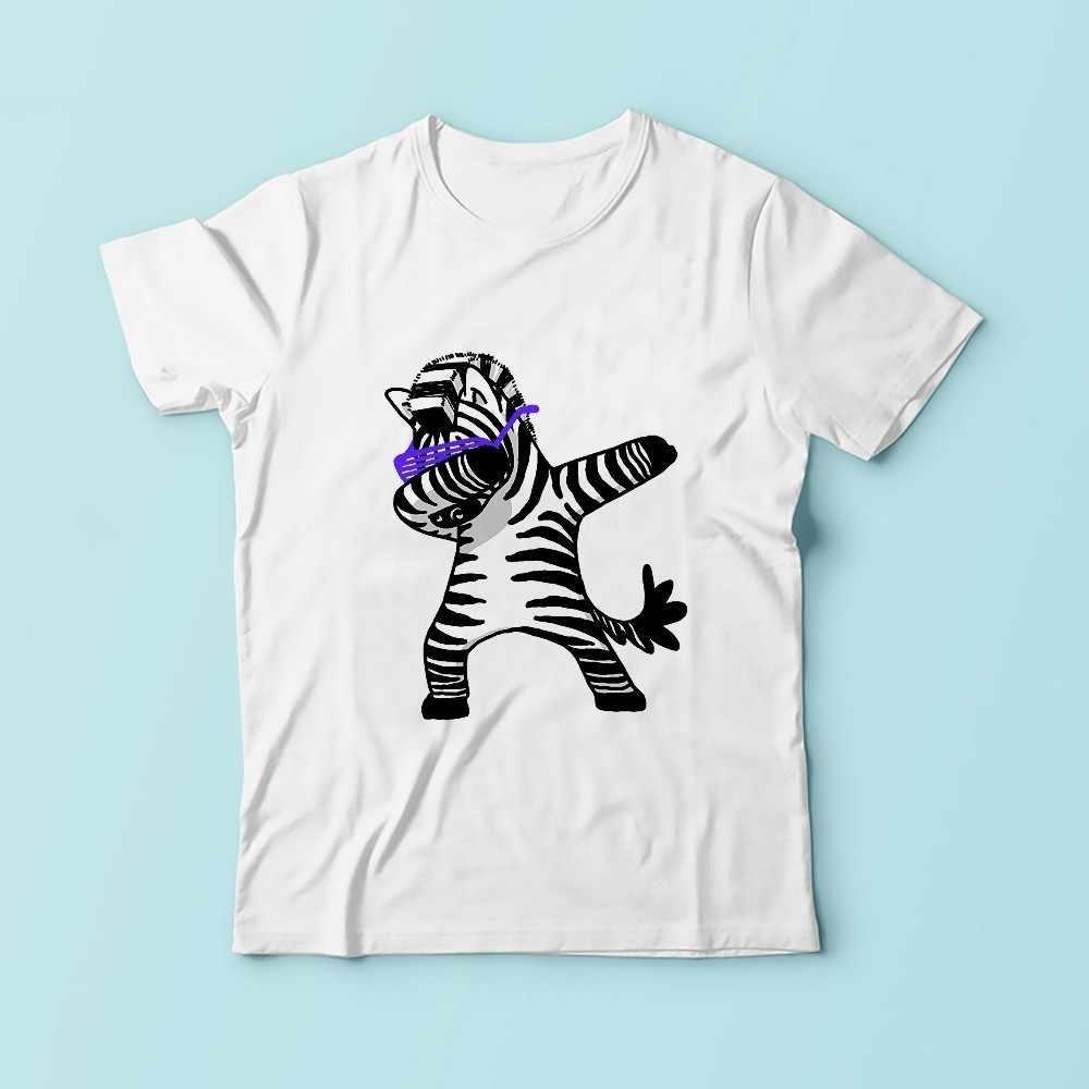 かわいい軽くたたくゼブラtシャツ男性jollypeachブランド2018夏新白カジュアル通気性tシャツオムdabキリン面白いtシャツ
