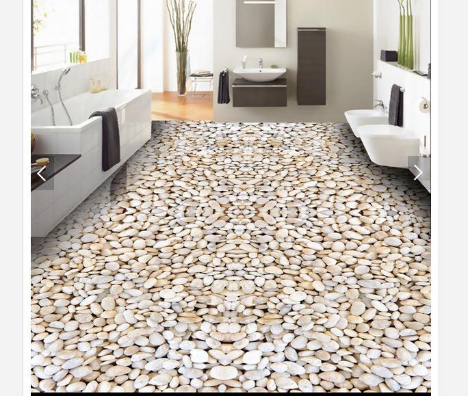 Papier peint photo personnalisé 3d revêtement de sol peinture papier peint galets Hd contracté la salle de bain revêtement mural papier peint décor à la maison