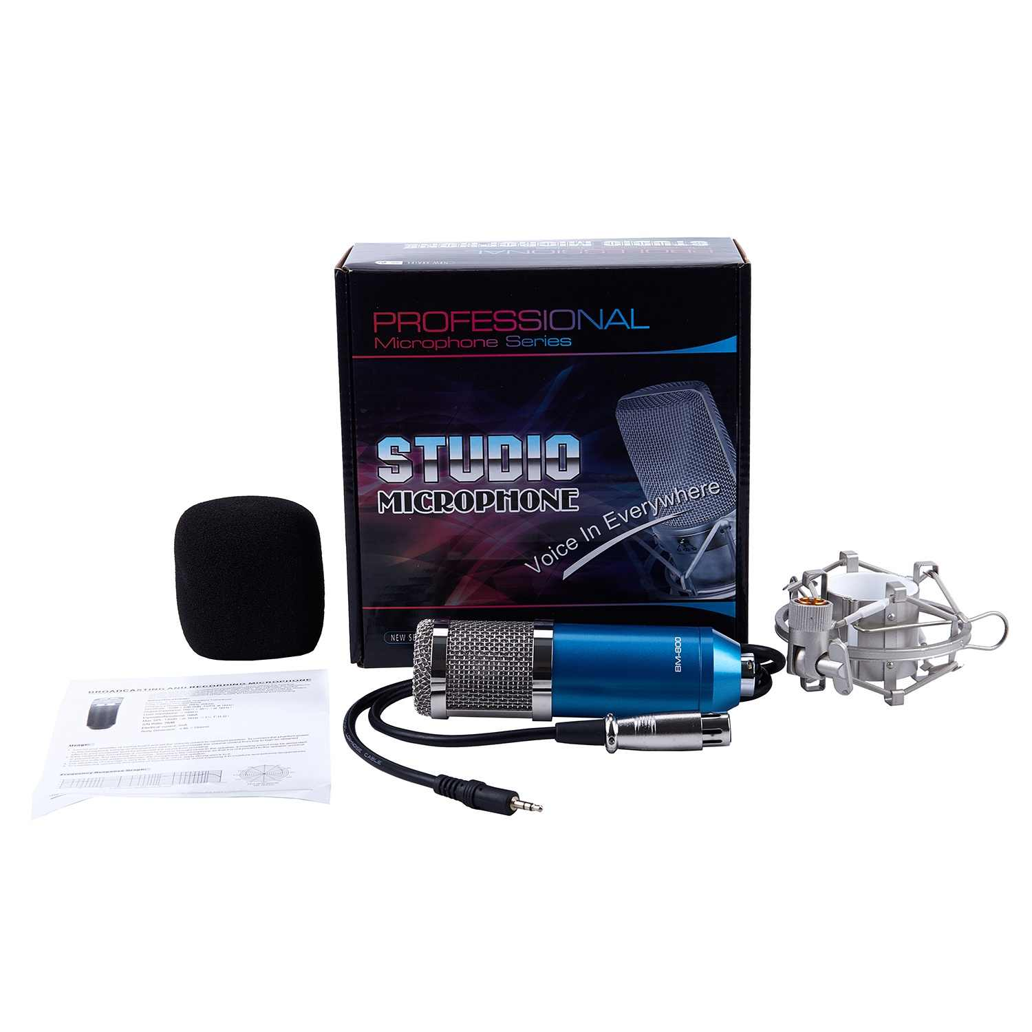 Professional BM-800 Condenser Microphone Dynamic Mic Sound Audio Studio Recording Microphone With Stand Shock Mount