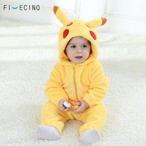 Image 3 - Pika Kigurumis bebé Onesie Anime disfraz Cosplay amarillo lindo pijama infantil de franela caliente suave mono de invierno ropa de casa de lujo