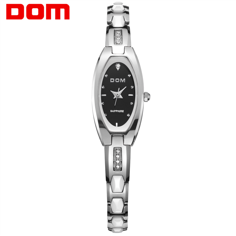 DOM Watch women fashion luxury Brand Top gold Tungsten steel Watch quartz women dive 30m watches relogio feminino W-733-1M misscycy lz the 2016 new fashion brand top quality rhinestone men s steel band watch quartz women dress watch relogio feminino