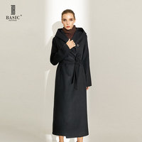 2014 2015 New Spring Autumn Women Long Wool Coat With Long Sleeves And Belt