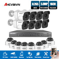 HD H.265 5.0MP POE Sicherheit Kamera CCTV System 16CH NVR  16 stücke 5MP POE IP Kamera In/Outdoor Tag/Nacht Ansicht Überwachung Kit P2P-in Überwachungssystem aus Sicherheit und Schutz bei