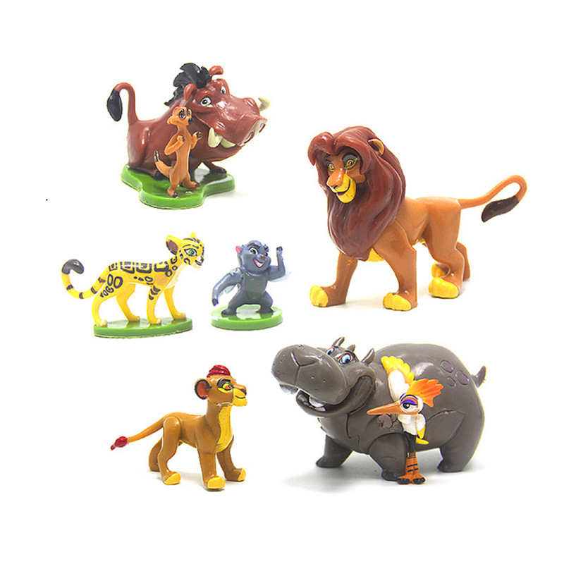 Us 1043 5 Offdisney Toys 6pcsset 4 7cm The Lion King Simba Toys Action Figure Mufasa Nala Rafiki Zazu Cartoon Figure Children Christmas Gift In