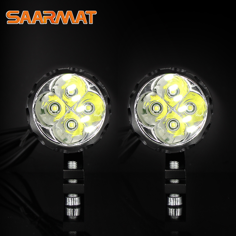 LED Mini Motorcycle Headlight Fog Lights Lamp DRL For Honda Dio Yamaha Ktm Exc High Brightness Household Bicycle Motorbike White