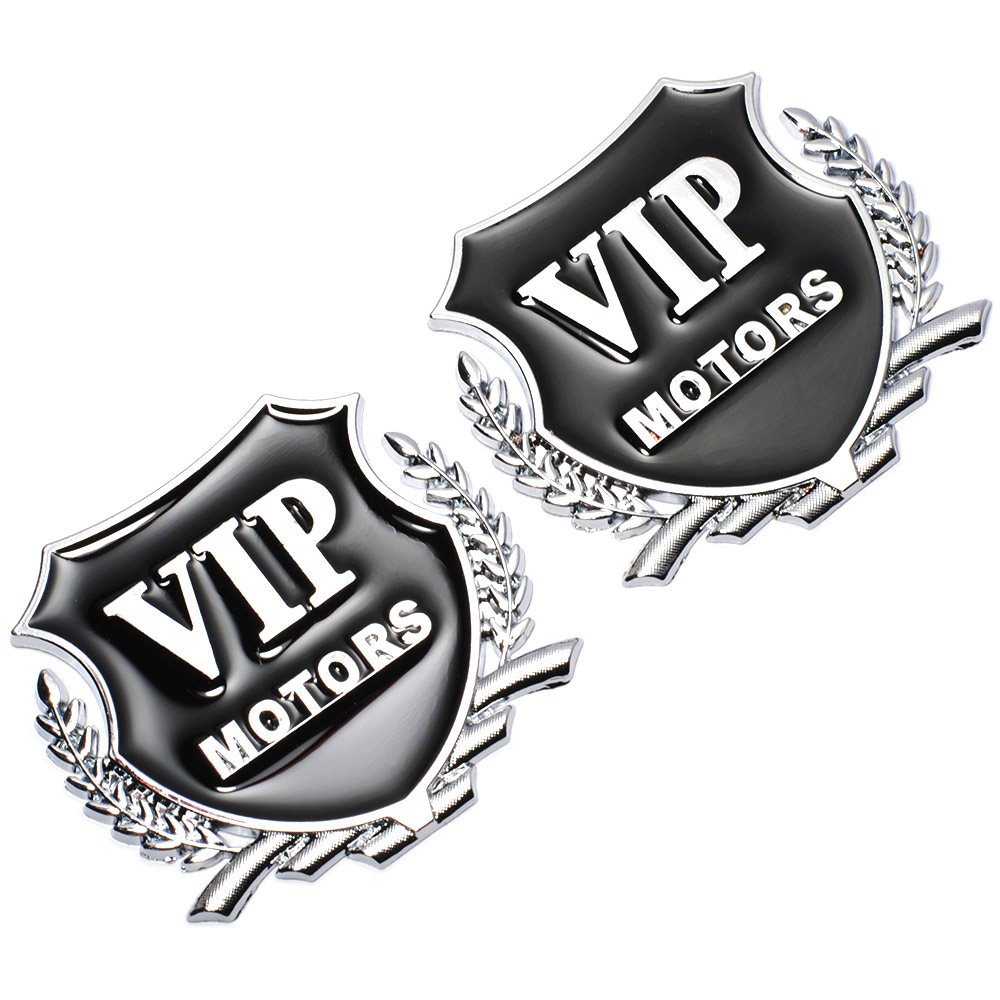 2 teile/los 3D Logo VIP MOTOREN Metall Auto Chrom Emblem Abzeichen ...