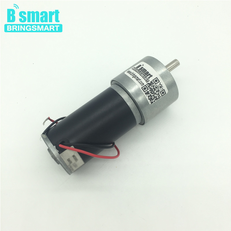 Bringsmart JGB37-3157 DC Gear Motor 12 Volt Reductor Engine High Speed High Torque Reversible 24V DC Reversible Reduction Geared цена
