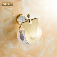 XOXOGold Toilet Paper Holder with diamond,Roll Holder,Tissue Holder,Solid Brass Bathroom Accessories Products 10086GT