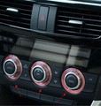 3pcs/lot High Quality Mazdas CX-5 CX5 2012 2013 Alloy Air Conditioning control Switch ring trim Sticker