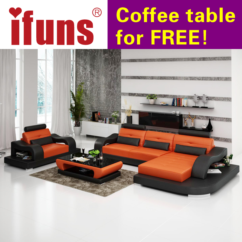 Ifuns modern red recliner sofa 2016 new design living room for Sofa en l liquidation
