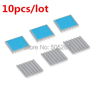 10pcs 17*17*2mm Computer Cooling Fin Radiator Aluminum Heatsink Heat sink for Electronic Heat dissipation Cooling Pads HY317 5pcs lot pure copper broken groove memory mos radiator fin raspberry pi chip notebook radiator 14 14 4 0mm copper heatsink